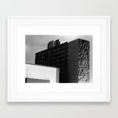 Building with a Bush Framed Art Print