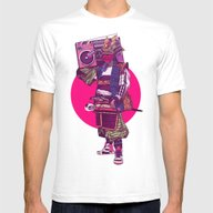 Hip-Hop Samurai Mens Fitted Tee White SMALL