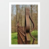 Rusted Wrought Iron.... Art Print