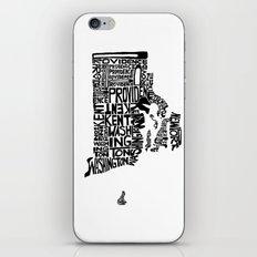 Typographic Rhode Island iPhone & iPod Skin