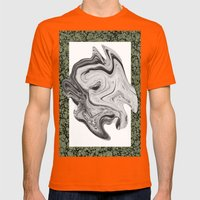 LIQUIDO Mens Fitted Tee Orange SMALL