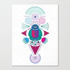 Geometric scream Canvas Print