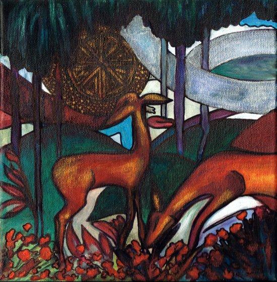 Deco Deer Art Print