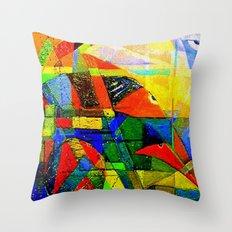 Bird to Earth Throw Pillow