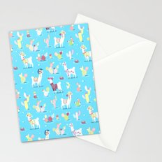 Alpaca Pattern Stationery Cards