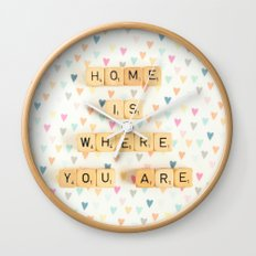 Home is Where You Are Wall Clock