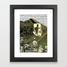 Are You On The Fence About Useless Information ? Framed Art Print