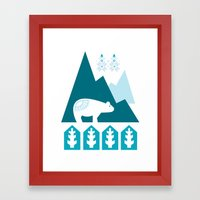 Heart The Polar Bear Framed Art Print