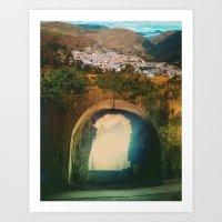 Tunnel Del Sol Art Print
