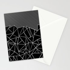 Ab Lines 45 Black Stationery Cards