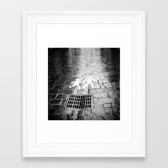 Crosswalk, Brittany, France Framed Art Print