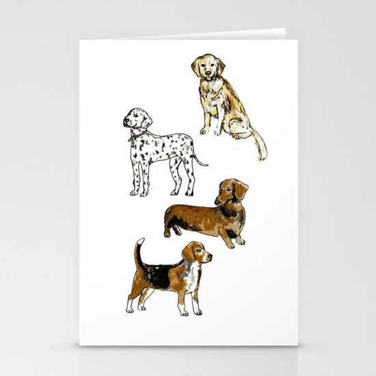 DogDogDogDog Stationery Card