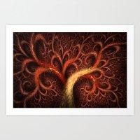 Fractal Design Tree Of L… Art Print