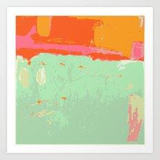 Infinity abstract art print pastel color Art Print