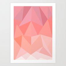 Pink Triangles  Art Print