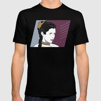 80s Princess Leia Slave Girl Mens Fitted Tee Black SMALL