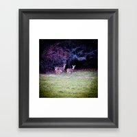 The Dear Deer Family Framed Art Print