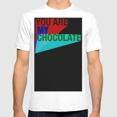 YOU ARE MY CHOCOLATE Mens Fitted Tee White SMALL