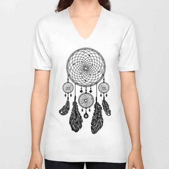 Dreamcatcher (Black & White) V-neck T-shirt