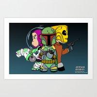 Jetpack Buddies Art Print