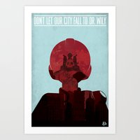 Megaman Propaganda Art Print