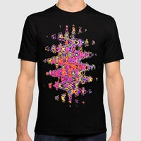 Color Me Happy -- Abstract Mens Fitted Tee Black SMALL