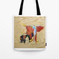 Elephants 2  Tote Bag