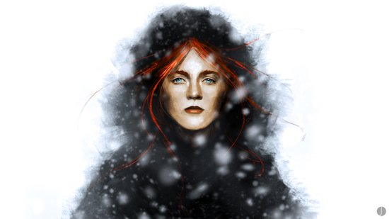 KISSED BY FIRE Art Print