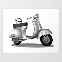 My faith, my voice, vespa my choice ! Art Print