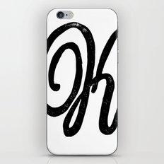 Monogrammed Letter K iPhone & iPod Skin