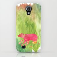 Baer  With Flowers I Galaxy S4 Slim Case