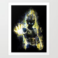 DBZ Inspired Epic Vegeta… Art Print