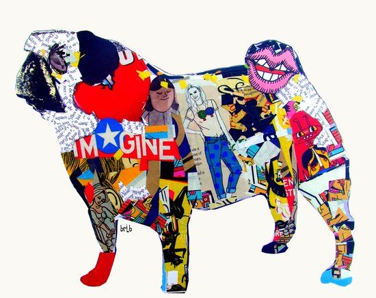 pug graffiti )dogs Art Print