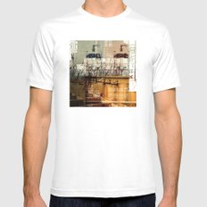 BABEL OVERDUBS II SMALL White Mens Fitted Tee