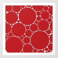 The Red Dot Art Print