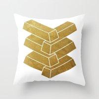 Illusory (white) Throw Pillow