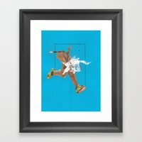 Mouthparts. Framed Art Print