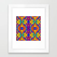 Colorful Geometry Framed Art Print