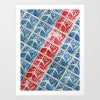 Vintage Postage Stamp Collection - 03 (airmail diagonal) Art Print