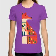 Century Fox Womens Fitted Tee Ultraviolet SMALL