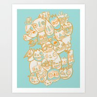 Faces II Art Print