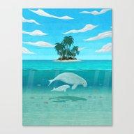 Manatee Island Canvas Print