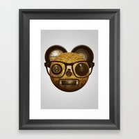 The Surprised Thing Framed Art Print