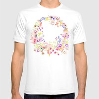 Soft Bunnies Pink Mens Fitted Tee White SMALL