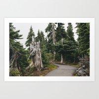 Mile High Hiking Art Print