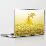 Gold Dolphin Laptop & iPad Skin