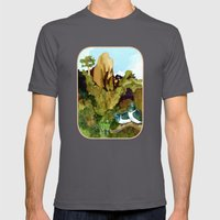 Love Under The Mountain Mens Fitted Tee Asphalt SMALL
