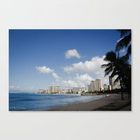 Waikiki Beach 2 Canvas Print