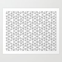 Karthuizer Grey & White Pattern Art Print