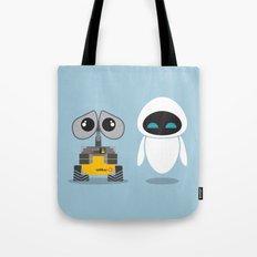 Wall-E and Eve Tote Bag